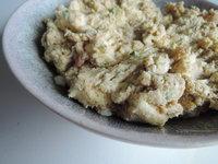 Garnalenboter met traditionele grove mosterd en bieslook