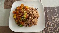 Pompoen-courget met couscous