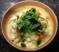 Oosterse paksoi-kip soep