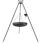 Driepoot 180 cm met wok en katrol