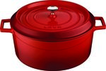 Braadpan gietijzer rond 20 cm 2,6 liter Lava Cooking rood