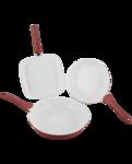 Keramische pannenset 3-delig met koekenpannen en grillpan