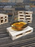 Onderzetter pallet mini cognac