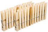 Wasknijper set 24 stuks hout