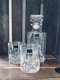 Whisky set karaf met 2 glazen kristal_