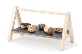 Etagere leisteen- hout 29 cm