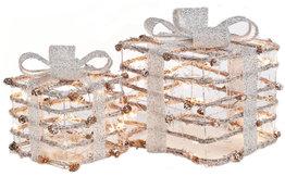 Kerst cadeau boxen LED set van 2