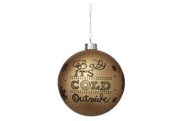 Kerstbal goud kunststof 10cm