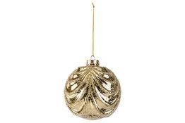 Kerstbal curtain goud 12cm