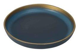 Dienblad 39,5 cm nachtblauw goud