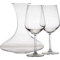 Wijn glazen set met karaf 3-delig Castle