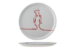 Pizzabord 31 cm Funnyline rood