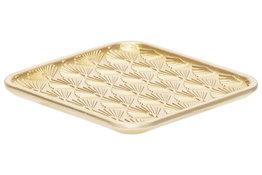 Dienblad 16,5 cm Pauw goud