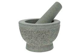 Vijzel met stamper graniet 13 x 8,5 cm