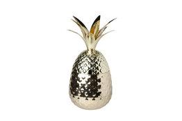 Ananas beker goud met gehamerd reliëf 800ml Cosy & Trendy
