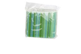 Rietjes groen, blauw 400 stuks afbreekbaar 14cm