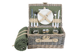 Picknickmand 2 personen groen 13-delig