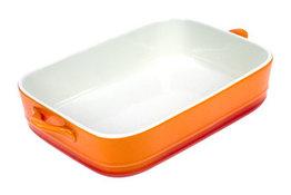 Ovenschaal 1,5 liter porselein oranje Cosy&Trendy