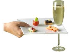 Serveer bordje met inkeping voor glas Cosy&Trendy