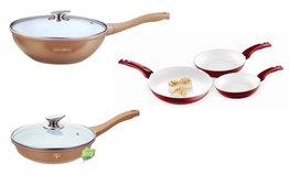Keramische pannenset 7-delig met wokpan