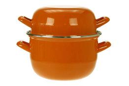 Mosselpan oranje 1,2 kg - 18 cm