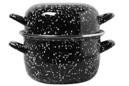 Mosselpan Black Pearl 28 cm