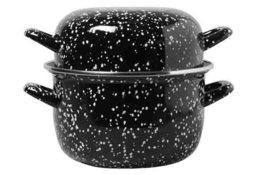 Mosselpan Black Pearl 24 cm