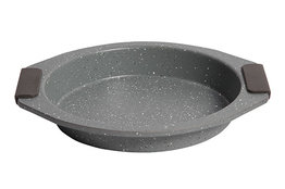 Bakvorm carbon staal met marmeren coating 29,5 cm