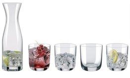 Waterset met 4 glazen en karaf Rona