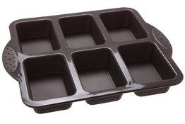Bakvorm siliconen voor 6 cakejes