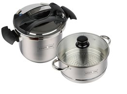 Snelkookpan 8 liter 4-in-1 inclusief couscous pan Royalty Line
