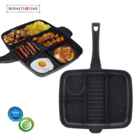 Grillpan multi 32 cm marmeren coating