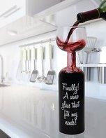 Fles - wijnglas 28 cm Cosy&Trendy