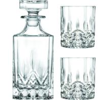 Whisky set karaf met 2 glazen kristal