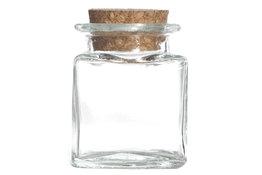 Mini voorraadpotje 5cl met kurken dop