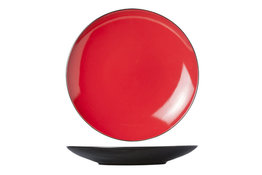 Bord 28 cm rood Finesse