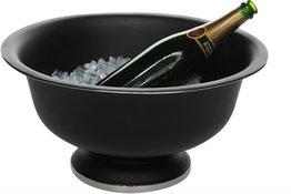 Champagne emmer op voet zwart 41 cm