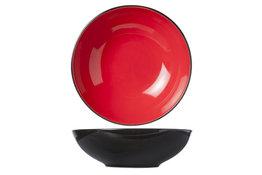 Diep bord 20cm rood Finesse