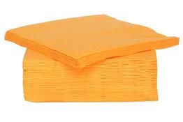 Oranje servetten 25 cm x 25 cm 40 stuks