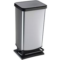 Pedaalemmer 40L zwart/zilver Paso