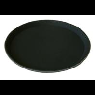 Dienblad 40 cm anti-slip zwart