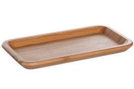 Bordje rechthoek bamboe 22,5cm Mali