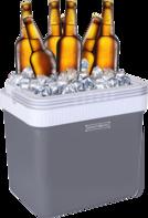 Elektrische koelbox 25 liter grijs