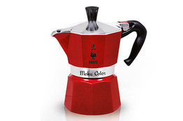 Percolator Moka Color Bialetti rood 6-kops