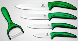 Keramische messenset 5-delig groen