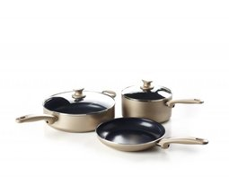 Pannenset 5 delig Greenpan Cambridge Bronze