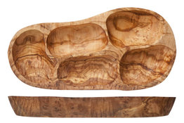 Antipasti bord olijfhout 30 cm