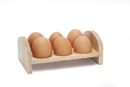 Ei-rekje voor 6 eieren hout