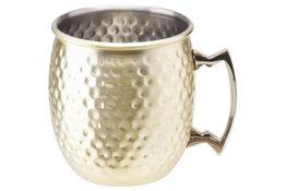 Moscow Mule Drinkbeker Goud gehamerd 8,5 x 10 cm