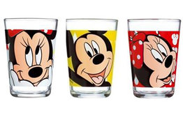 Disney Minnie en Mickey Mouse glazen set van 3